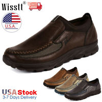 Mens Leather Casual Shoes Smart Formal Office Work Shoes Loafers Moccasin Autumn