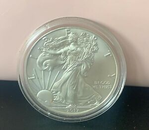 2017 USA ONE OUNCE SOLID SILVER  STANDING LIBERTY COIN SUPERB.UK BIDDERS ONLY
