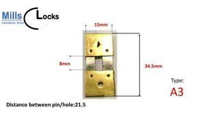 Brass Clock Pendulum Large Suspension Spring. (34.5 x 8 x 15mm) (Type A3)