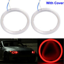2x 60mm 12V 5W Ultra COB SMD LED Red Angel Eye Ring Fog Light Bulb Waterproof