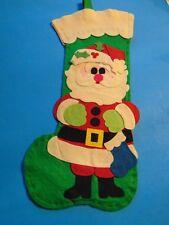 Felt Christmas Santa Stocking Vintage Kitsch Jolaynes 1976-77