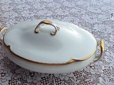 Antique Bavaria J & C Queen Louise Geo H. Bowman Co oval covered casserole