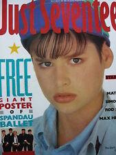 JUST SEVENTEEN MAGAZINE 30/7/86 - SAMANTHA FOX - DURAN DURAN (SIMON LE BON)