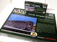 KATO 106-084 + 106-7117 N Sante Fe El Capitan 12 Car SET w Display Unitrack