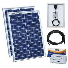 40W (20W+20W) Kit de carga solar para 12V/24V Batería autocaravana, caravana, barco