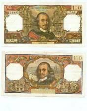 Billets de la banque française 100 Francs, sur corneille