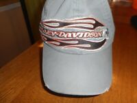 Harley Davidson Men's Gray Stone Washed Distressed 100% Cotton Baseball Cap 2XL