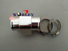 SILVER Water Temp Temperature Sensor Gauge Radiator Hose Adapter for Cars 40MM