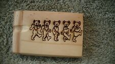 LASER ENGRAVED ,GRATEFUL DEAD, ROW OF DANCING BEARS  ,DUG OUT WITH BATTER PIPE