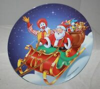 1997 McDonald's Christmas Ronald in Sleigh with Santa Collectible Plastic Plate