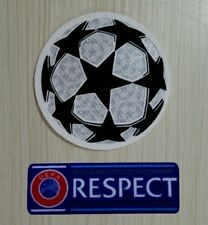 Toppe Patch CHAMPIONS LEAGUE e RESPECT, per maglie da calcio.