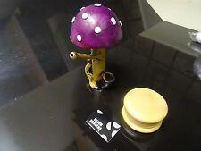 The Purple  Mushroom +Grinder Ceramic Smoking Pipe 5 Screens < NOT Glass 1313+G