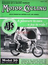 Aug 1 1957 A.J.S 'Model 30 600cc Twin' Motor Cycle ADVERT - Magazine Cover Print