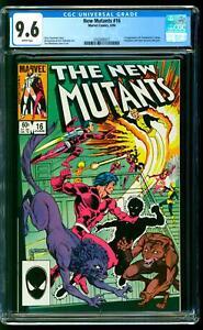 New Mutants 16 CGC 9.6 NM+ 1st Thunderbird (James Proudstar) Marvel 1984