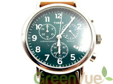 Timex Weekender Chronograph 40mm Watch Brown/Green