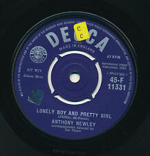 """ANTHONY NEWLEY 45 TOURS 7"""" UK AND THE HEAVENS CRIED"""
