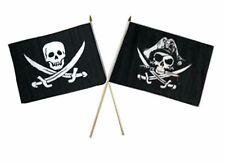 "12x18 12""x18"" Wholesale Combo Pirate Calico Jack & Deadman's Chest Stick Flag"