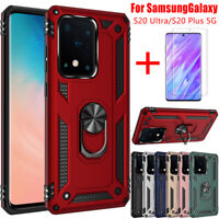 For Samsung Galaxy S20 Ultra S20 Plus 5G Shockproof Armor Ring Stand Case Cover