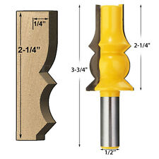 Tower Handrail Huge Crown Molding 1/2'' Shank Router Bit Woodworking Line Cutter