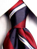 Nautica Red Blue Striped Silk Tie A4555