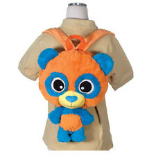 Children's Happy Kritters Panda Backpack Travel Buddy Pillow Fit Tablet & iPad