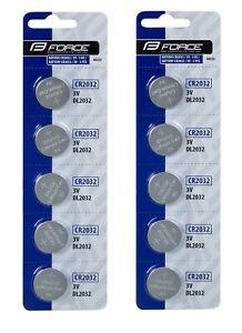 10x CR2032 Lithium Knopfzellen Batterie Battery CR 2032 Batterien Knopfzelle