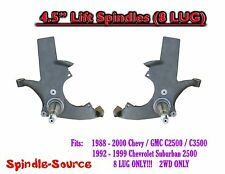 "1988 - 2000 Chevy GMC C2500 C3500, Suburban 2WD 4.5"" Lift Lifting Spindles 8 LUG"