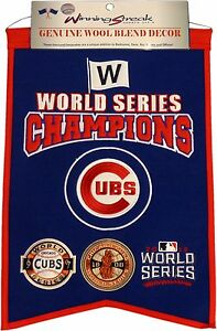 Chicago Cubs World Series Champions Wool Banner 13319