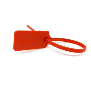 "FAST SHIPPING ""The Ten"" ZIP TIE TAG Red Replacement Nike x Off-White"