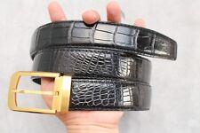Without Jointed -Black Genuine Alligator, CROCODILE Leather Skin Men's BELT #T03