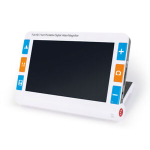 7Inch low vision aid 32X Portable Digital Video Handwriting Magnifier Dual Lens