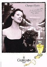 PUBLICITE ADVERTISING 104  1997  GUERLAIN  SPHIE MARCEAU aux Champs-ELYSEES par
