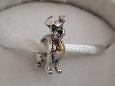 Genuine, CHAMILIA 925 Silver DISNEY Lady and the TRAMP Dog Charm Bead 2020-1124
