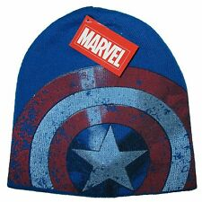 Marvel Super Hero Captain America Knit Hat Skull Woven Cap Circle Star Shield