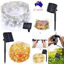 22m 72ft 200LED Outdoor Solar Powered Copper Wire Light String Fairy Party Decor