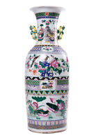 Antique 19th Original Chinese Large porcelain Vase FAMILLE ROSE VERTE 62 cm