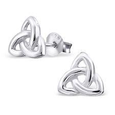 925 Sterling Silver celtic knot stud earrings kitsch boxed gift