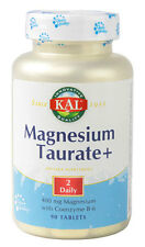 Magnesium Taurate + 400 mg, 90 Tablets With B-6 - KAL