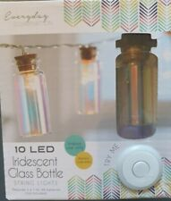 LED STRING LIGHTS Mini Iridescent Glass Bottles Hanging Lights x 10 Unusual