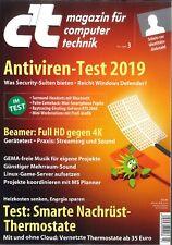 c't Magazin, Heft 3/2019 vom 1.1.2019: Antiviren Test 2019 +++ wie neu +++