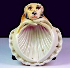 ANTIQUE GERMAN HOUND DOG PORCELAIN DISH