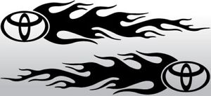 tribal flames vinyl van car side stickers graphics decals 8x2 inch rally racing