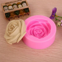 Rose Flower Fondant Cake Chocolate Sugarcraft 3D Mold Cutter Silicone Tools DIY