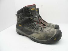 KEEN Men's Tucson Mid Steel Toe Work Safety Boots Magnet/Chili Pepper Size 11D