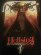 Hellsing Supernatural Japanese Anime Manga Men's Black T-Shirt Size Small