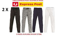 2 X Polyester Cotton Drawstring Chef Pants- DNC Workwear 1501
