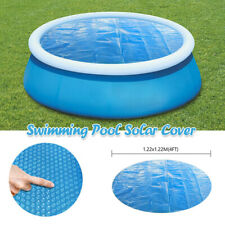 6/8/10Ft Round Swimming Paddling Pool Cover Inflatable Easy Fast Set Rope