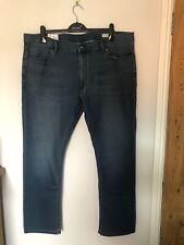 M&S Travel Jeans W42 Length 31 Slim Dark Indigo