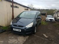 BREAKING FORD SMAX  2 litre diesel all parts , wheel nut only,sea grey zetec
