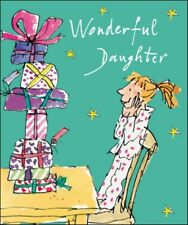 Wonderful Daughter Quentin Blake Christmas Greeting Card Popular Xmas Cards